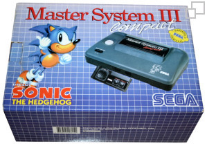 SEGA Master System III Compact Sonic the Hedgehog Box [Portugal]